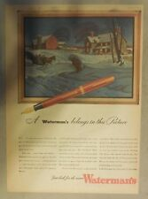 Waterman's Pen Ad: Waterman's Belongs In This Picture 1944 Size: 11 x 15 inches