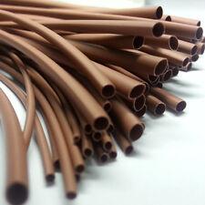 Various Sizes & Lengths Brown Heat Shrink Tube Sleeving Car Wire Wrap Heatshrink