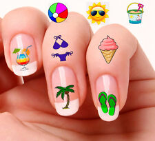 40 Nail Art Decals Transfers Stickers #876-877 Summer Holiday decals Mixed set