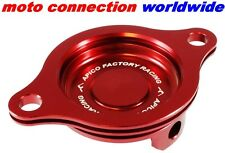 APICO CRF450 RED OIL FILTER COVER FITS 2002-2008 HONDA CRF450