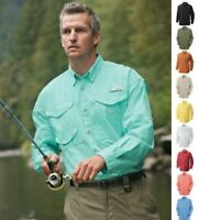 NEW COLUMBIA Men's PFG Bonehead Long Sleeve Shirt Fishing/Hiking Poplin Cotton