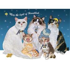 Pipsqueak Productions H529 Hanukkah Cats Hanukkah Boxed Cards - Pack of 10