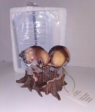 A Touch of Affection Figurine Birds Laura Crawford Williams Owl Sculptures