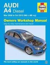 Haynes AUDI A4 B8 (08-15) BLACK EDITION S LINE TDI Owners Repair Manual Handbook