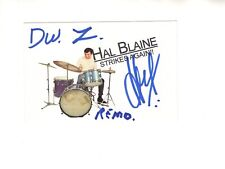 HAL BLAINE autographed 3x4 photo       ROCK+ROLL HOF DRUMMER       awesome
