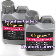 2Pc 120ML Pro Nail Art False Tips Powder Glitter Acrylic Liquid Manicure Set New