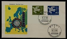 BRD FDC MiNr 367x-368x (2fa) Europa (CEPT) 1961 Vereinigung-Gemeinschaft-Politik
