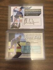 Lot Of 2 Asher Wojciechowski Cut Auto/Auto The Game