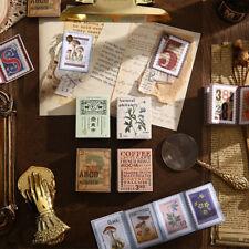 Vintage Time Post Office Paper Stamps Stickers Book Diy Junk Journal Scrapbook