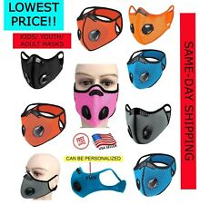 PERSONALIZED CYCLING SPORTS MASK w/ PM2.5 FILTER FOR KIDS ADULTS+FREE MASK USA