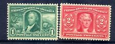 US Stamps - #323-324 - MH HR - 1&2 cent Louisiana Purchase Expo Issues - CV $45