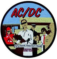 AC/DC - Patch Aufnäher - Dirty deeds rund NEU! ACDC