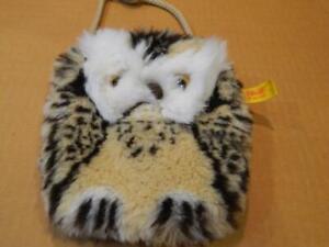 Steiff Wittie The Owl Purse/ Pocketbook # 8486/18 w/ Tag & Button Vintage