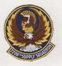 Patch parches Army Air Force (USAF) 7206th supply Squadron Patch, color