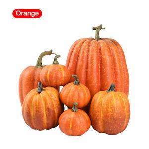 Halloween Artificial Pumpkins Fake Maple Leaf Table Home Decor Autumn Harvest
