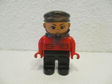 ( A10 ) LEGO Duplo  Intelli Lokführer Schaffner Rot
