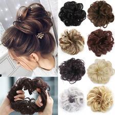 LD_ Women Fake Hair Extension Bun Wig Synthetic Fiber Curly Chignon Hairpiece