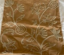 POTTERY BARN Embroidered  Floral Throw Pillow Appliquéd Cover