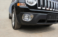 Chrome Front Fog Light Lamp Cover Reflector Garnish For Jeep Patriot 11-16