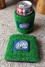 VTG Pair Miller Lite Beer Coozie Insulated Astroturf Drink Beverage Holders