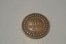 TUNISIE 10 CENTIMES 1911 A CUIVRE