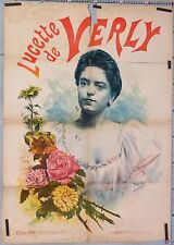 FARIA OLD FRENCH POSTER LUCETTE DE VERLY CABARET THEATRE ci 1895-1900
