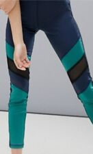 NWT MinkPink Move Navy Blue & Green Athletic Leggings Pants Size Small
