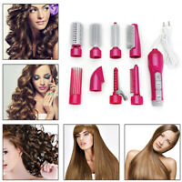 8-in-1 One Step Hair Dryer Volumizer Styler Hot Air Brush Curle Curler Comb D!
