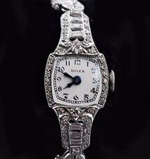 Vintage 30's Platinum Diamond Petite Ladies Rolex watch w/Platinum Band  ロレックス