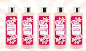 5 Bodycology Pink Vanilla Wish LIMITED EDITION Nourishing Hand Soap 10 OZ