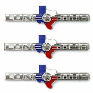 Texas LONE STAR EDITION Emblems - Fits All Mopar Dodge RAM Truck Gate 3pc V8 TX