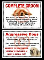 DOG GROOMING - COMPLETE GROOM & AGGRESSIVE DOGS SIGNS by GROOMERGRAPHIX