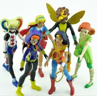 6Pcs 15cm Supergirl Heroes Wonder Woman Action Figure Collectible Kids Toys cute