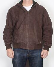 """Dickies Workwear Hooded Bomber Jacket Coat Brown Medium 40"""" 42"""" (JDF)"""