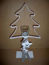 Teelichthalter White Tree Höhe ca : 44,5 cm shabby chic  Metall-Holz-Glas-Textil