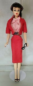 Vintage Barbie Brunette Ponytail Doll in Busy Gal #981