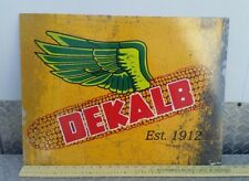 Dekalb Seed Corn aluminium distressed large monsanto Sign Winged Ear nice new