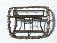 Antique Single 19thC Silver Plated Steel LARGE Ornate Shoe Buckle a/f #B16