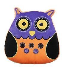 Ganz Orange Purple Halloween Plush Owl Shaped Pillow