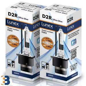 2 x D2R NEU Stück LUNEX HID XENON BRENNER  P32d-3 Original 35W 6000K Ultra Blue