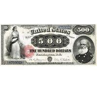 500 dollars 1880 us bill. Copy banknoty. .VERY RARE