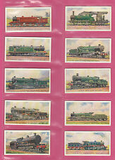 RAILWAYS - WILLS NEW ZEALAND - SCARCE SET OF 50 RAILWAY ENGINES CARDS -  1925