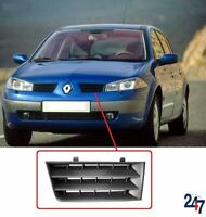 FRONT BUMPER GRILL TOP BLACK PLASTIC LEFT COMPATIBLE WITH RENAULT MEGANE 05-08