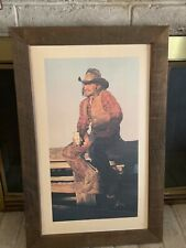 Gordon Snidow Coors Cowboys Collection five framed prints great condition