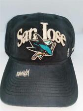 New San Jose Sharks Adult Mens Size OSFA Black Adjustable Reebok Hat $20