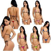 Women Lingerie Bikini Set Bra Micro G-string Thong Underwear Lingerie Swimwear