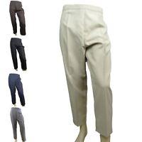 Ladies Womens Elasticated Waist Trousers / Pants (5 Colour Choices)