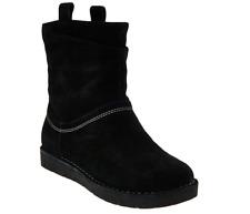 Clarks Unstructured Suede Boots-Un.Ashburn-Black Suede UK3.5 EU36 E Fit JS46 92