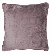 "2 X CRUSHED VELVET MAUVE PURPLE 17"" - 43CM CUSHION COVERS"