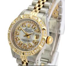 Rolex Lady Datejust 69173  26mm White MOP   Diamond Dial Diamond Bezel-QUICKSET